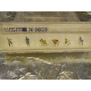 ** Merten N 0859 Figure Pack Men Passengers Sitting 6 1:160 N Scale