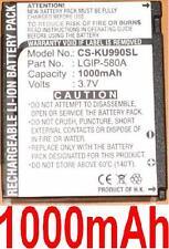 Batterie 1000mAh type LGIP-580A Pour LG KC910