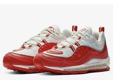 NWT Mens Nike Air Max 98 Running Shoes - Red & White - 640744-602 - SZ-11