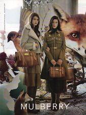 Publicité Advertising 2011  MULBERRY  sac à main collection mode