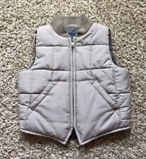 Babygap Boys Taupe Puffervest Excellent Size 3T