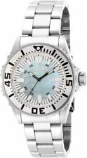 New Womens Invicta 17696 Pro Diver MOP Dial Steel Bracelet Watch