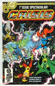 CRISIS of INFINITE EARTHS #1-12 George Perez DC (1985) COMPLETE NM- (9.2) SET