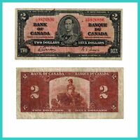 🍀P 59b Kanada Canada 2 Dollar 1937 F- 13303 Low Shipping Combine Free