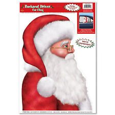 FATHER CHRISTMAS SANTA BACKSEAT DRIVER CAR WINDOW CLING STICKER DECORATION