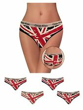 3 x Ladies Union Jack Panties UK Flag Knickers Comfortable Underwear Briefs