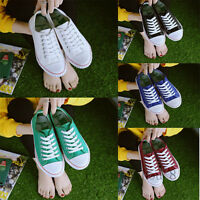 Women's Low Top Flat Up Canvas Shoes Lace Up Wearable Solid Color Outdoor Shoes