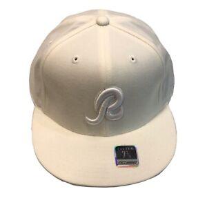 Washington Redskins NFL Reebok Tonal White On White 7 7/8 Fitted Cap Hat $30