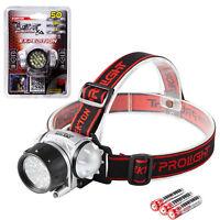 Dekton Expedition LED Head Light Torch Headlamp 50 Lumens 10M Range & Batteries