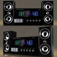 bluetooth Surround Sound Speaker System Laptop PC Home Audio TV Theater USB SD
