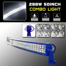 50inch 288w LED Curved Work Light Bar Combo Beam Off Road Truck 4wd SUV ATV