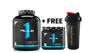 Rule 1 Whey Blend 5lbs + Free Creatine 30 Serves + Free Shaker