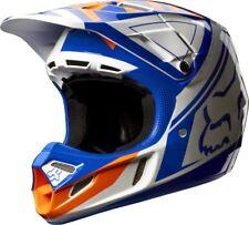 2014 Fox Racing V4 Intake Motocross Helmet Orange Blue White Ryan Dungey (SMALL)