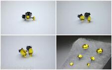 Orecchini di bigiotteria gialli in acciaio