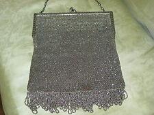 Vintage Beaded Metal Purse w/Accessories
