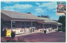 Hershey PA Pennsylvania The Palm Motel 1950s Chrome Antique Postcard 24656