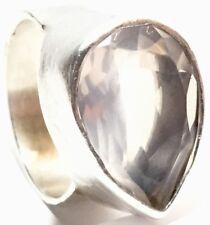 Vintage Designer Soixante Neuf Sterling Silver Smokey Quartz Ring Size 8