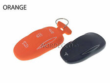NUOVO PORTACHIAVI SMART in Silicone Protector Case Cover + PORTACHIAVI TESLA Model S arancione
