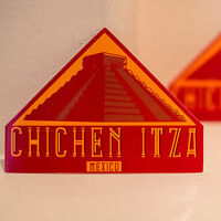 "#4299 Chichen Itza Mexico Mayan Vintage Art 3x4"" Luggage Label Decal Sticker"