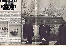 COUPURE DE PRESSE CLIPPING 1975 ARISTOTE ONASSIS (20 pages)