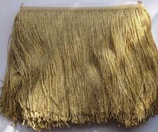 Metallic Gold  Tassel Fringe Lace Trim 20 cm Wide 1 Yard