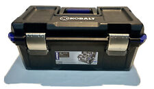BLACK KOBALT 19 INCH TOOL BOX WITH LIFT-OUT-TRAY WITH 11 CHISELS