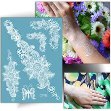 ►TATOUAGE TEMPORAIRE BLANC: Dentelle oriental (éphémère, henné blanc main)◄