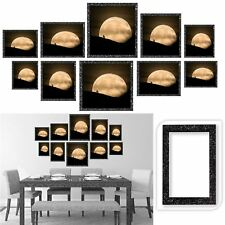 Gr8 Home 10 Black Wooden Glitter Multi Wall Photo Picture Frame Wood Collage Set
