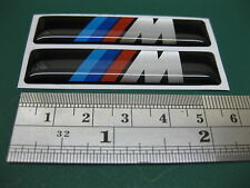 2 DOMED M Tech stickers 58mmxm13mm