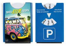 Witzige Spaß Motiv Parkscheibe + Eiskratzer+Gummilippe VW Bus Bulli Let the sun