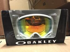 NEW Oakley A Frame 2.0 Ski Goggles (POLISHED WHITE / FIRE IRIDIUM 59-568)