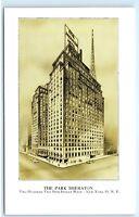 *The Park Sheraton Hotel New York City NYC NY Vintage Postcard B50