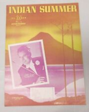 Indian Summer Sheet Music Featured by Orrin Tucker 1939
