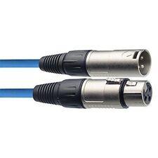 XLR hembra azul 6/m Cable de micr/ófono // conector de se/ñal Stagg