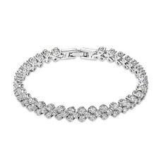 Vintage Crystal Wedding Bridal Pulsera Diamante Rhinestone / Flower Girl