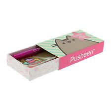 Pusheen MINI SET SCRITTURA GATTO GATTINO Penna Gel 5 cartoline buste inviti BOX