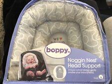 Boppy Noggin Nest Head Support, Gray Elephants, Head Support Elephant Gray/Mint