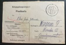 1943 Oflag 7A Germany POW Camp PC Cover Prisoner War To Warsaw Poland