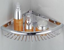 Bathroom Chrome Wall Mounted Corner Shower Shelf Caddy Basket Storage fba512
