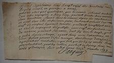 Certificat de Carabinier.Régiment Le Prince Camille & Infanterie de Navarre.1699