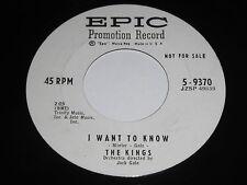 The Kings: I Want To Know / Bump-I-Dy Bump 45 - DooWop