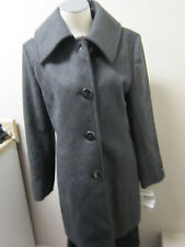 Jones New York Petite Single Breasted Wool Coat 10P Charcoal NWT