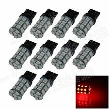 10X Red 7443 7440 27 5050 SMD LED Brake Turn Signal Rear Light Bulb Lamp G004