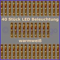 S332 - 40 Stück LED Beleuchtung 5cm WARMWEIß Häuser Waggons RC Modelle uvm.