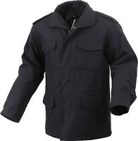 Black Military M-65 Field Coat Army M65 Jacket with Liner