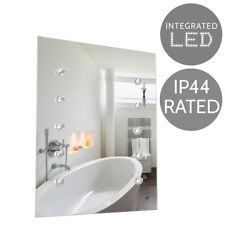 Battery Operated LED Bathroom Mirror K5 Crystal Accent Rectangular Light Up