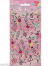 Paper Projects BALLET DANCERS Sparkle re-usable Foil Craft Stickers Age 3 +