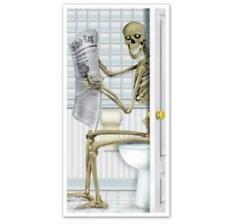 Halloween Skeleton Restroom All Weather Door Cover Halloween Decoration Supplies