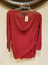 Inc international concepts womens small red sweater NWT