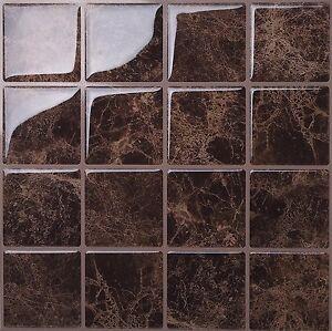 Tic Tac Tiles 3D Peel and Stick Wall Tiles Marmo Marte(25cm x 25cm x 5 sheets)